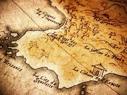 carte de trésor imaginaire